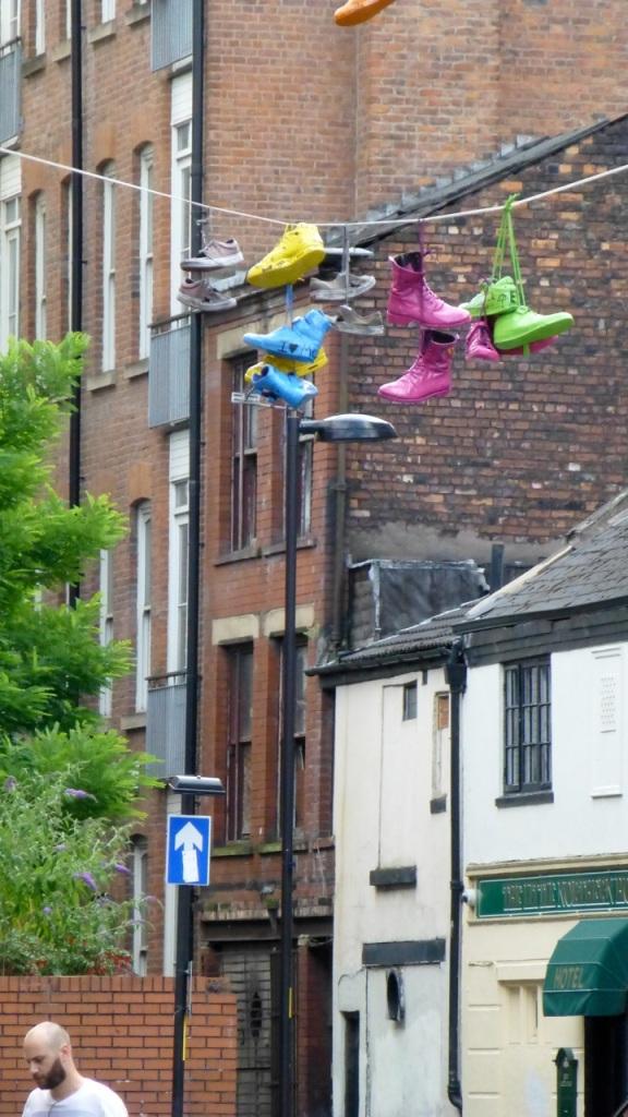 Neon footwear street-art