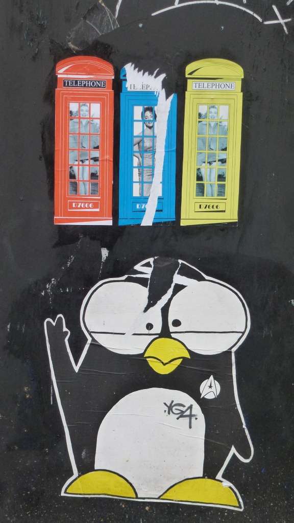 Phone box wheat paste Manchester