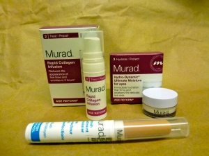 Murad Rapid Collagen Infusion, Hydro-Dynamic Ultimate Moisture for eyes & Blemish Treatment Concealer.