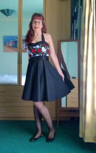 skull and roses 50's Rockabilly dress