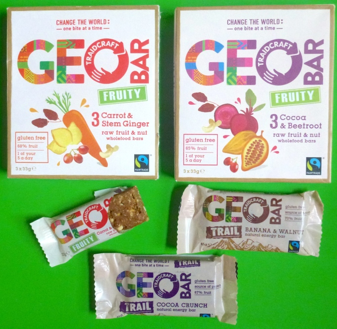 dairy wheat free from Geo bars