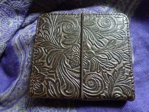 Tooled leather diary