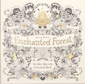 adult colouring book enchanted forest
